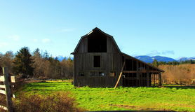 Vancouver Island Barn Stock Photo