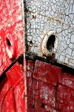 Vancouver Island, Bow of Rusting Boat Stock Image