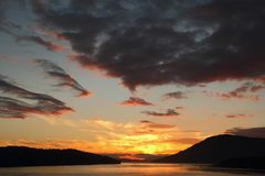 Vancouver Island, Gulf Islands, BC Sunset Stock Photos