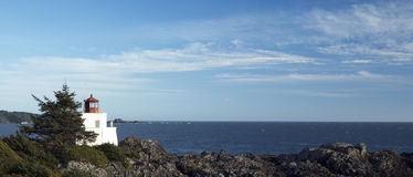 Vancouver Island - Lighthouse. Vancouver Island and lighthouse - Pacific Ocean and Lucluelet lighthouse stock photography