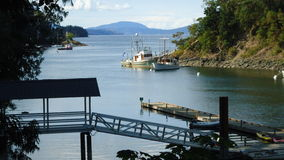 Vancouver island. Looking out on a bay on Vancouver Island Stock Photo