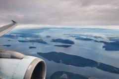 Vancouver Island Plane Shot royalty free stock photography