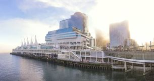 VANCOUVER - JAN 13, 2018: Panoramic view of Canada Place and cru Stock Photography
