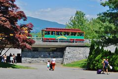 Downtown Vancouver Trolley Transportation System Royalty Free Stock Photos