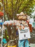 VANCOUVER KANADA - AUGUSTI 10, 2017: Granville Market tecken _ Arkivfoton