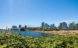Vancouver Kanada - Juni 20, 2017: Olympicet Stadium och villan Royaltyfri Fotografi