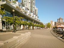 Vancouver Kanada - 2018 Loppfoto av den Vancouver staden, en av de viktiga städerna av Kanada royaltyfria foton