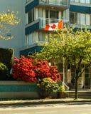 Vancouver Kanada - Maj 20, 2017, arkitektur och byggnader i centrum Arkivbild