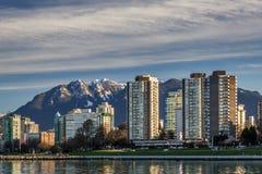 Vancouver Kanada - mars 18, 2016 marina Arkivfoto