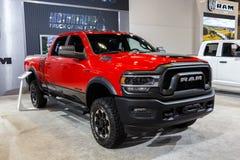 Vancouver Kanada, Marzec, - 2019: Dodge Ram, brać przy 2019 Vancouver Auto przedstawieniem fotografia stock