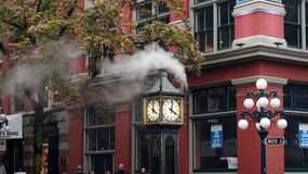 VANCOUVER, KANADA - 29. September 2014: Dampf-Uhr in Gastown Stockfotografie
