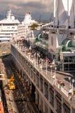 Vancouver, Kanada - 12. September 2018: Hafen des Vancouver-Kreuzschiff-Anschlusses lizenzfreies stockfoto