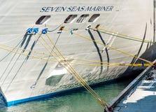 Vancouver Kanada, Wrzesień, - 12, 2018: Siedem morzy żeglarza statku wycieczkowego łuska obrazy stock