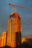 Vancouver-Kontrollturm im Bau Stockfotografie