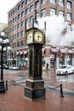 Vancouver kontrpary zegar w Gastown fotografia stock