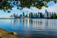Vancouver linia horyzontu, kolumbiowie brytyjska, Kanada fotografia royalty free