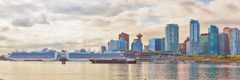 Vancouver linii horyzontu panorama zdjęcia stock