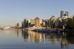 Vancouver linii horyzontu pejzaż miejski Obrazy Royalty Free
