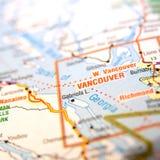 Vancouver map  Stock Photos
