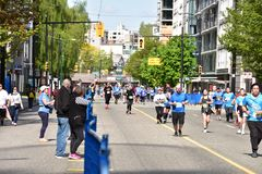 Vancouver marathon May 5th 2019 royalty free stock image