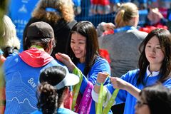Vancouver marathon May 5th 2019 royalty free stock photos