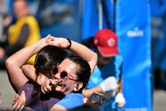 Vancouver marathon May 5th 2019 royalty free stock photography