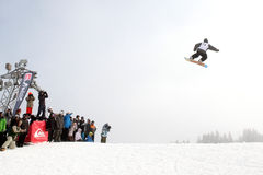 VANCOUVER - MARCH 28: Quiksilver Snowboarding Comp Royalty Free Stock Photo