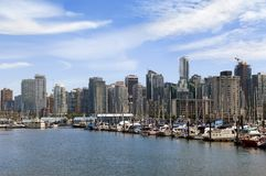Vancouver marina Royalty Free Stock Image