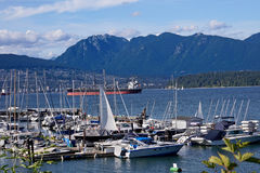 Vancouver marina Royalty Free Stock Images