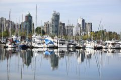 Vancouver Marina Reflections Imagen de archivo