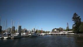 Vancouver Marina stock video footage