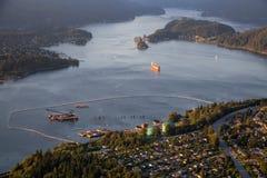 Vancouver miasta antena zdjęcie royalty free