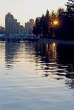 Vancouver miasta linia horyzontu Obrazy Royalty Free