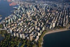 Vancouver miasta W centrum antena obrazy stock