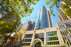 Vancouver, modern architecture Royalty Free Stock Images