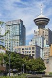 Vancouver modern high rise office buildings, including the Harbour Centre stock photos