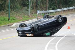 Vancouver Motor Vehicle Accident Stock Photo