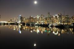 Vancouver-Nacht, Kanada Lizenzfreie Stockbilder