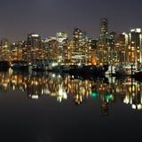 Vancouver-Nacht, Kanada Stockbild