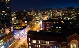 Vancouver nachts Stockfotografie