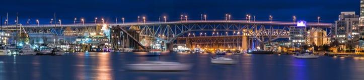 Vancouver nachts Stockbild