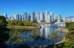 Vancouver nachts Lizenzfreies Stockbild