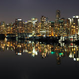 Vancouver natt, Kanada Fotografering för Bildbyråer