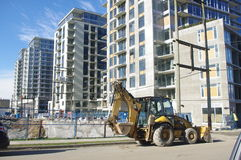 Vancouver new condo construction. Next to former 2010 Olympic Village, Canada Stock Image