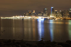 Vancouver at night Royalty Free Stock Images