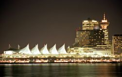 Vancouver by night royalty free stock images