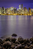 Vancouver at night in Canada Royalty Free Stock Photo