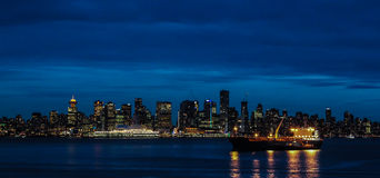 Vancouver at night. Stock Photos