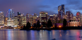Vancouver night light views with reflection Stock Photo