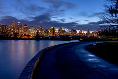 Vancouver night light views with reflection Stock Photography